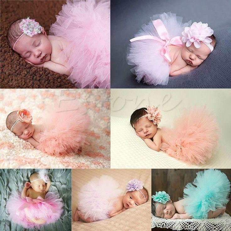 Bonito Da Criança Do Bebê Recém-nascido Menina Tutu Skirt & Headband Foto Prop Costume Outfit Moda Beleza Conjunto