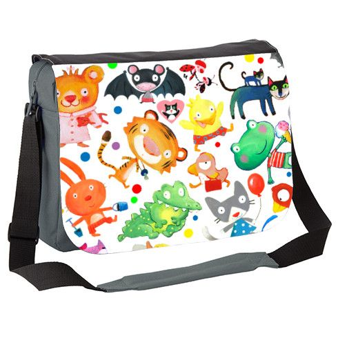 animals kids pattern Messenger Bag by luciasalemi at zippi.co.uk