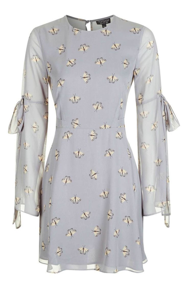 Main Image - Topshop Moth Print Skater Dress