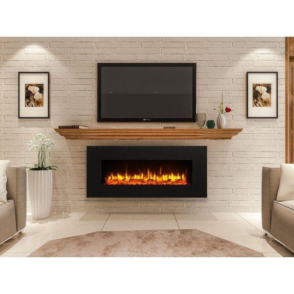 Orren Ellis Kreiner Wall Mounted Flat Panel Electric Fireplace