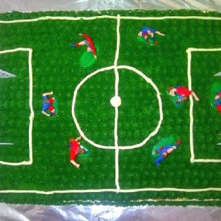 Soccer camp cake