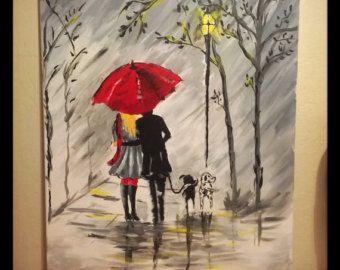 originale ombrello pittura astratta rosso home decor di maggyart