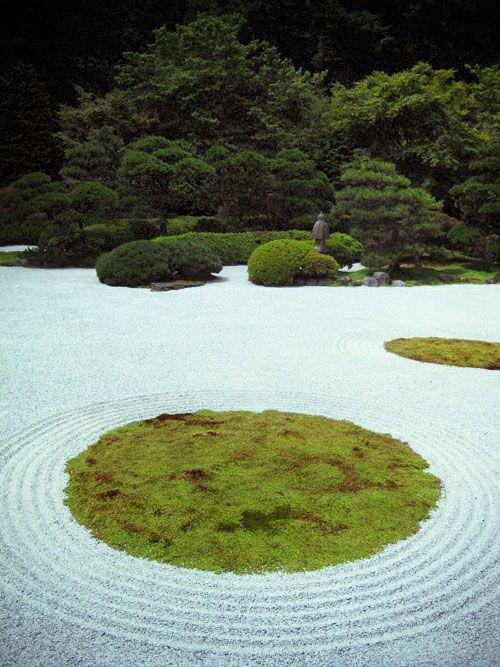Zen Buddhist temple garden