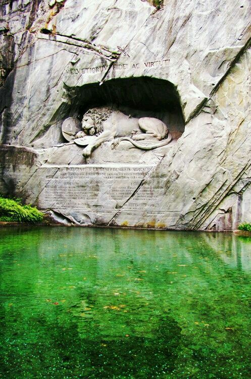 The lion monument at Lucerne Switzerland