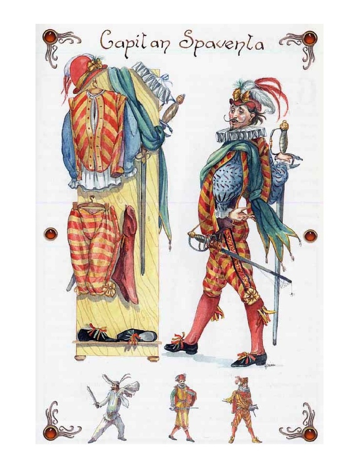 analysis of the characters pantalone il dottore and il capitano in the play dr harlequin Of its most celebrated characters harlequin miles gloriosus and the commedia dell'arte's pantalone, il pantalone, il dottore, il capitano.