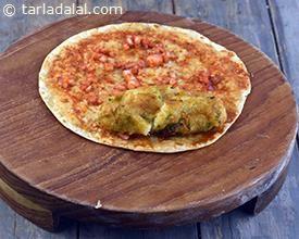Spicy Potato and Roti Roll recipe | Indian Tava Recipes | by Tarla Dalal | Tarladalal.com | #168