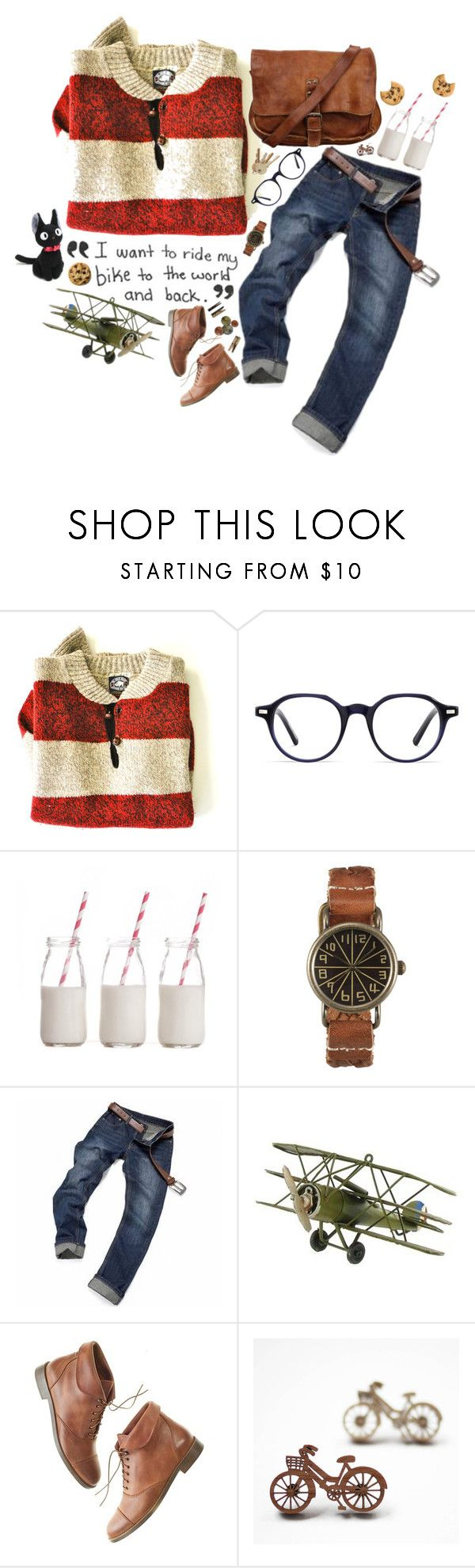 """Tombo from Kiki's Delivery Service"" by hannahhnd ❤ liked on Polyvore featuring Great Plains, Warby Parker, Dress My Cupcake, Laundry and Madewell"