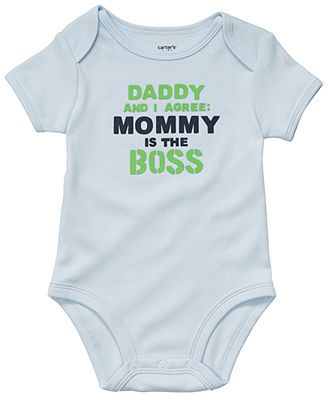 daddy and i agree:  mommy is the boss