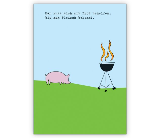 Einladungskarte zum grillen mit schwein http www for Beistelltisch zum grillen