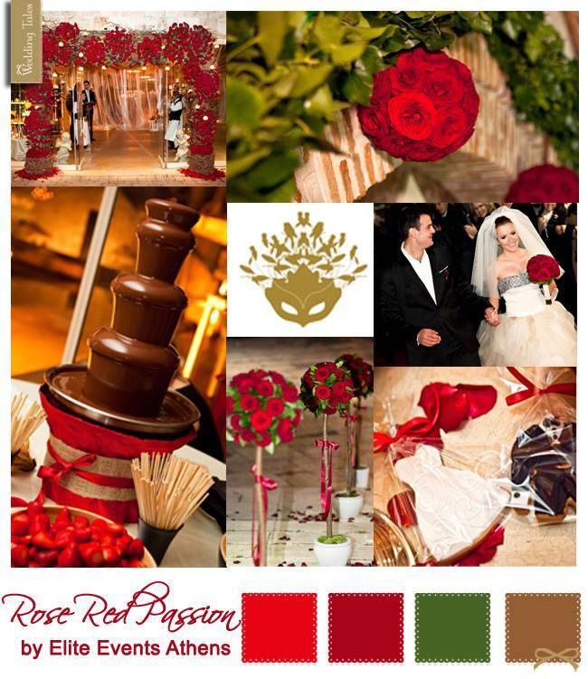 Wedding Moodboard | Rose Red Passion by Elite Events Athens