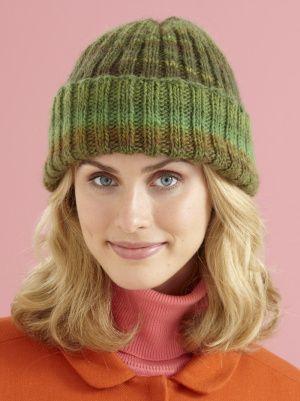 Knit Cozy Cuffed Hat...super stretchy.