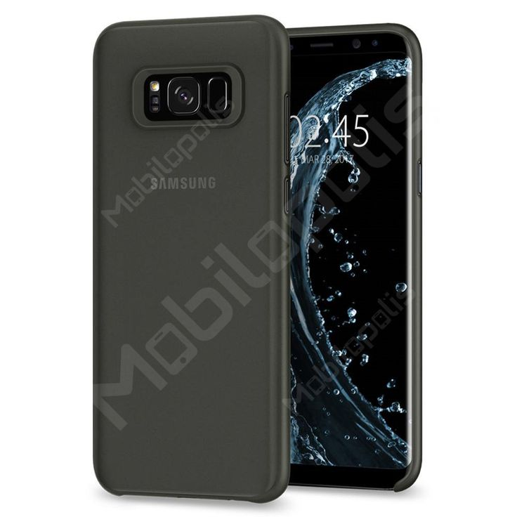 Kryt na Samsung Galaxy S8 Spigen Air Skin černý matný poloprůhledný