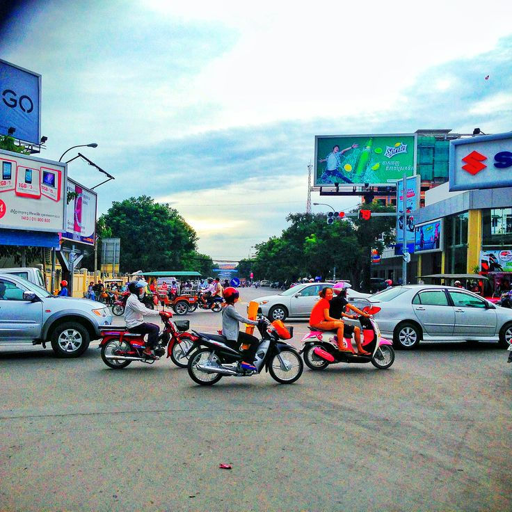The Streets of Camboda by Jamie Hill #travel #iphone #traffic
