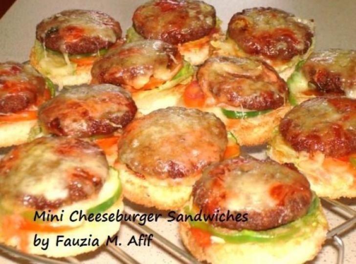 Mini Cheeseburger Sandwiches | Fauzias Kitchen Fun