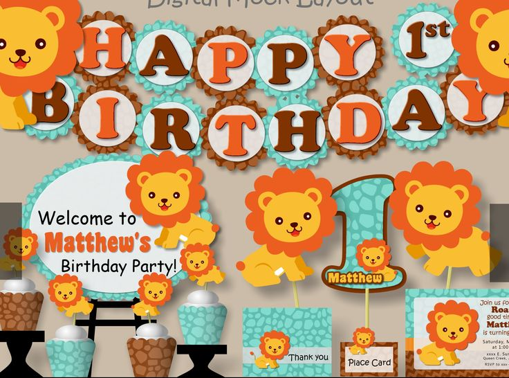 Best 25 Lion birthday ideas on Pinterest Lion party Lion