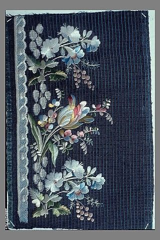 Embroidery Sample (France), late18th-early 19th century