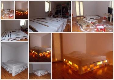ALGUMAS CAMAS DE PALETES: Diy'S Furniture, Diy'S Idea, Pallets Beds Frames, Cool Beds, Palettes Beds, Cool Idea, Furniture Crafts, Palletb, Beds Lighting