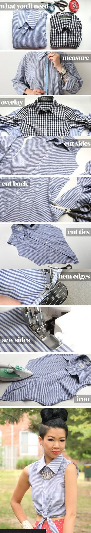 DIY Cropped Tie Top http://www.chictopia.com/photo/show/700353-DIY+Cropped+Tie+Top-sky-blue-cropped-blouse: