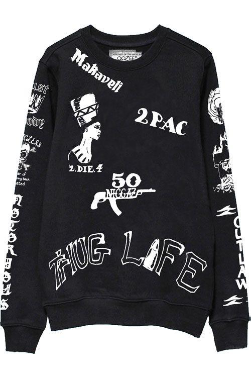 2pac Tattoo Sweatshirts Front