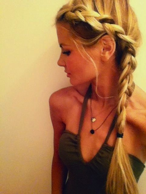 pretty side braid. but someone give her something to eat. stat.