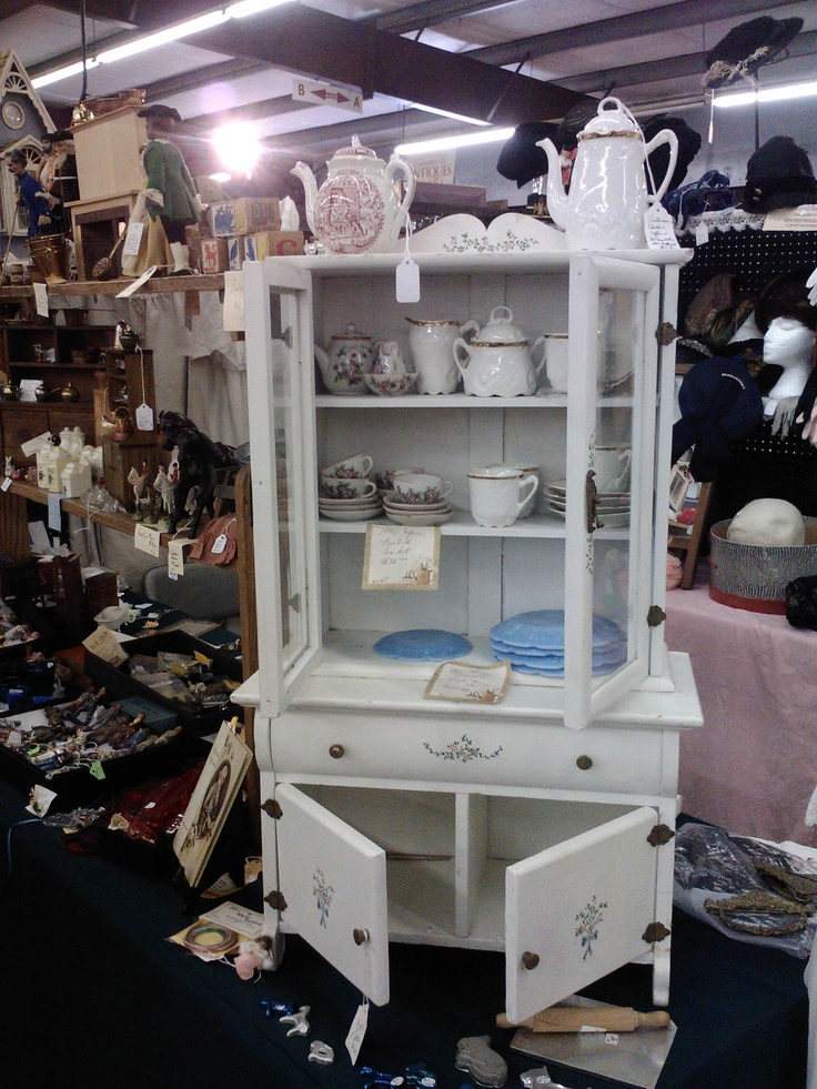 Antiques in Building A include china, doll house furniture, silverware, trunks and much more!