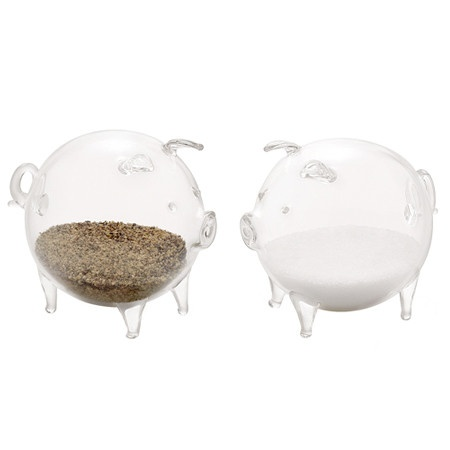 Piglet salt pepper set torre and tagus owls pinterest salts and piglets - Owl salt and pepper grinders ...