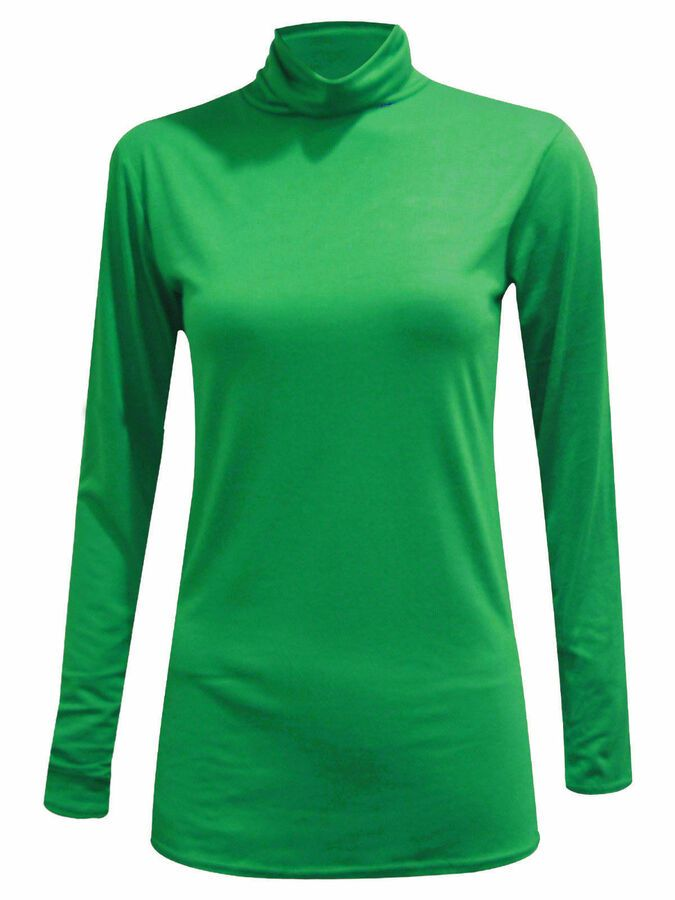2c8f40173b82ea WOMENS LADIES RIBBED POLO NECK TOP JUMPER TURTLE ROLL NECK FULL SLEEVE  PLAIN TOP#POLO#NECK#TOP