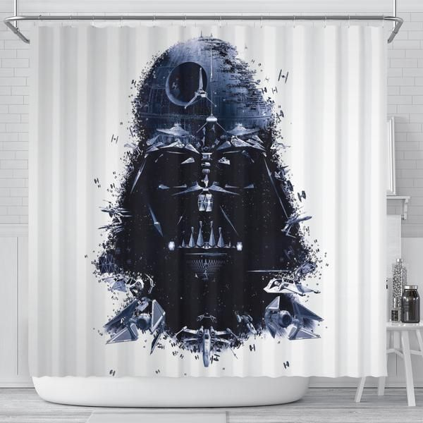 Star Wars Shower Curtain Darth Vader Skywalker Iconic Movies