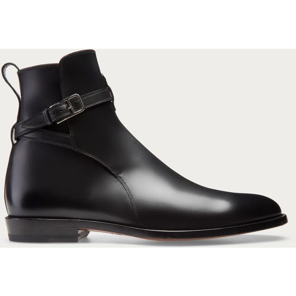 Bally HOBSTON Men's leather boot in black ($925) ❤ liked on Polyvore featuring men's fashion, men's shoes, men's boots, mens leather shoes, mens shoes, mens black leather shoes, bally mens shoes and mens black shoes