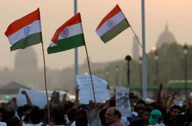 Indian Flag and Youth