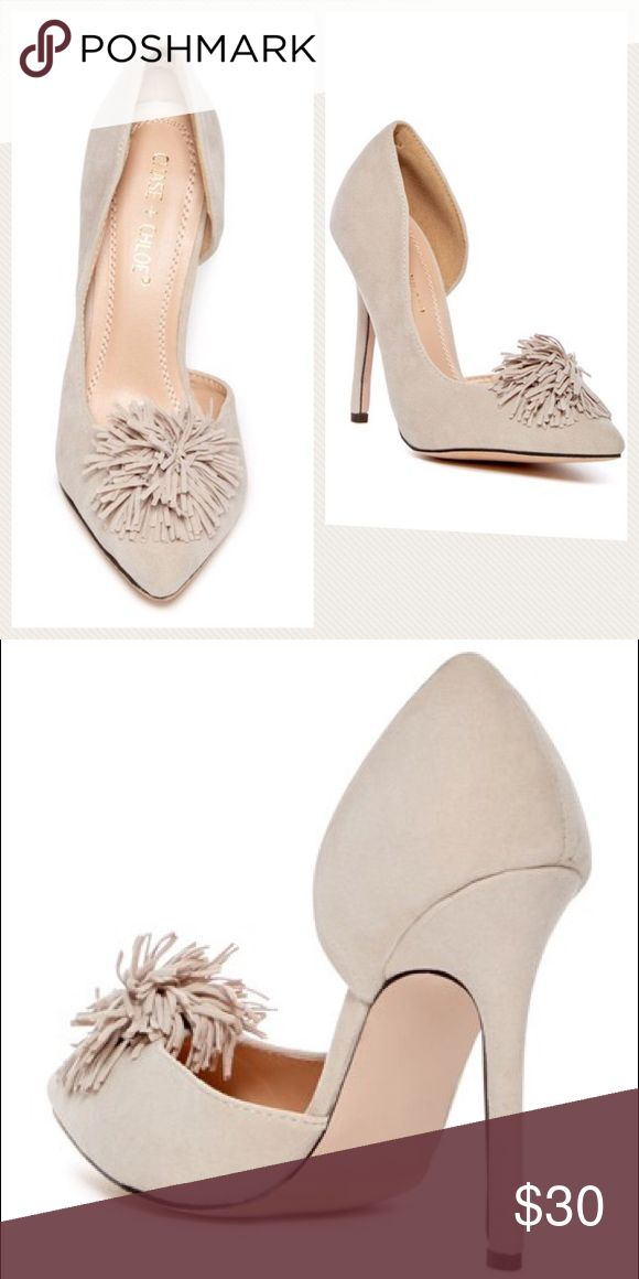 """NWOT Chase & Chloe Lala Pompom Pump NWOT never used! Per Nordstroms website Sizing: True to size. But I disagree these fit me and I'm normally Size 6-6.5 - Pointed toe  - Fringe pompom toe applique - Slip-on  - Lightly padded footbed - Approx. 4.75"""" heel  - Imported Materials Chase & Chole Shoes Heels"""
