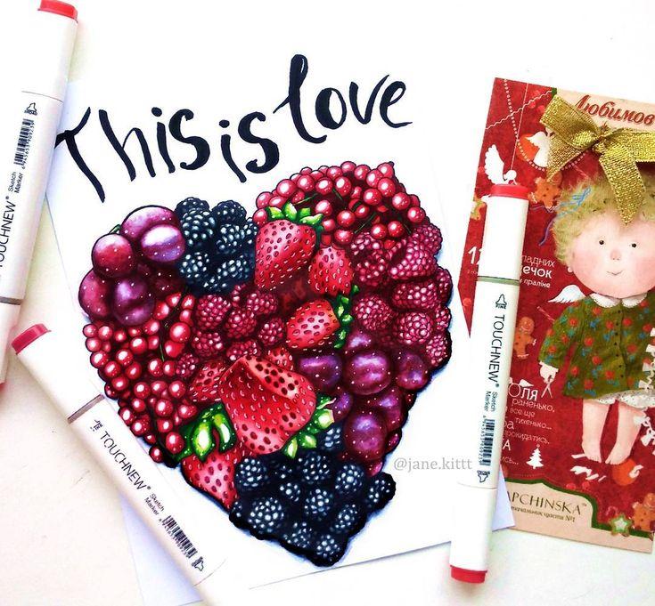 И снова первая тема в #сочный_марафон от @svekla_art @yana_stamo @just_do_sketch @miftvorchestvo @mpm_papers Тут можно бесконечно рисоватьибо вдохновению в этой теме нет предела. Взять только вкусныесочные и яркие ягоды! Дая обожаю ягоды. Особенно клубникучерешню и арбуз:) И если кто-то все таки читает текст под постамикакие ягоды любите вы?:) #art #creative #instaart #artist #illustration #leuchtturm1917 #copic #touchmarker #copicart #markers #foodillustration #draw #fruits #cherry #summer…