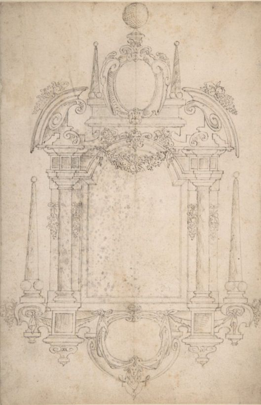 Design for a tomb / wall monument .g