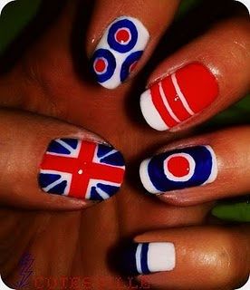 Fun for the bridesmaids! Quadrophenia nail art Xx