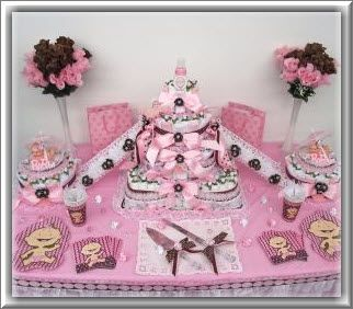 Baby shower ideas for girls baby shower decorations - Idee deco pour baby shower ...