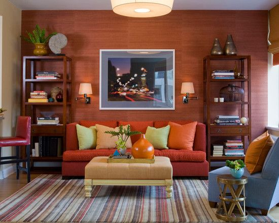 Die besten 25+ Orange sofa design Ideen auf Pinterest Orange - wandgestaltung wohnzimmer orange
