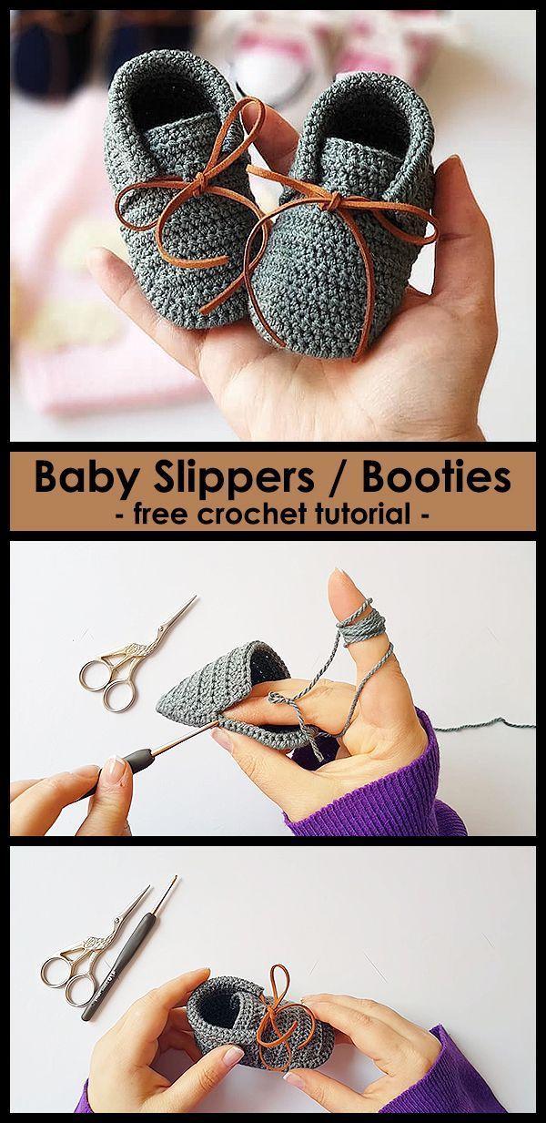 Crochet beautiful shoes for babies.