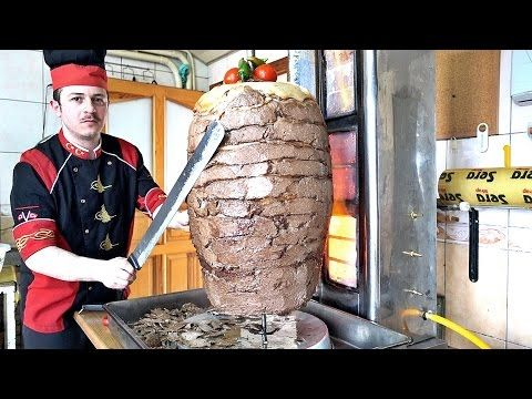 Turkish Doner Kebab Recipe How to Make Meat Mince Semolina Doner - YouTube