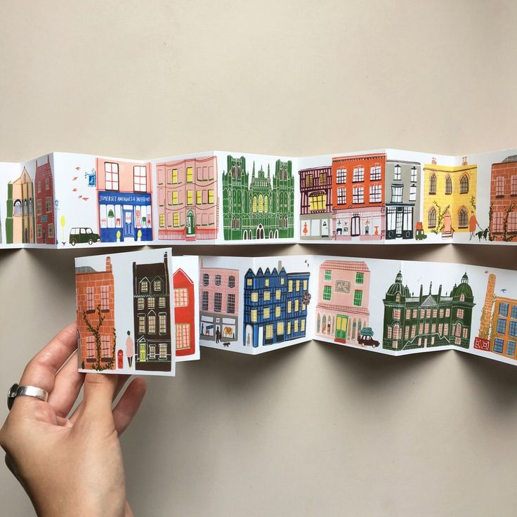 Image of A miniature concertina street - buy here: www.pollyfernsergeant.bigcartel.com