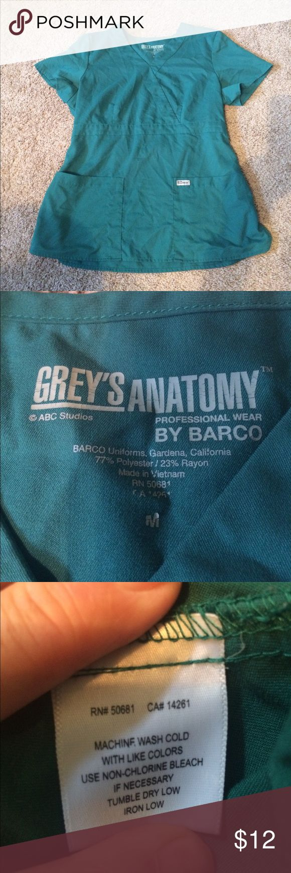 Grey's Anatomy size medium green scrub top Grey's Anatomy size medium green scrub top see all my other scrubs would love to bundle and save you money grey's Anatomy Tops
