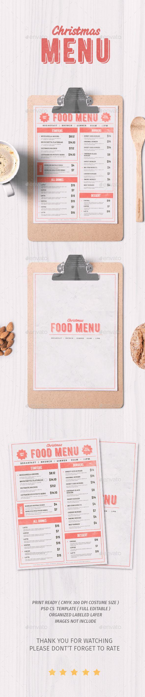 17 best images about restaurant menu template design on christmas food menu