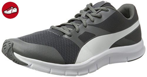 Puma Unisex-Erwachsene Flexracer Sneaker, Grau (Quiet Shade-White), 42.5 EU - Puma schuhe (*Partner-Link)
