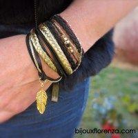 Bracelet Plumy Tressy Noir