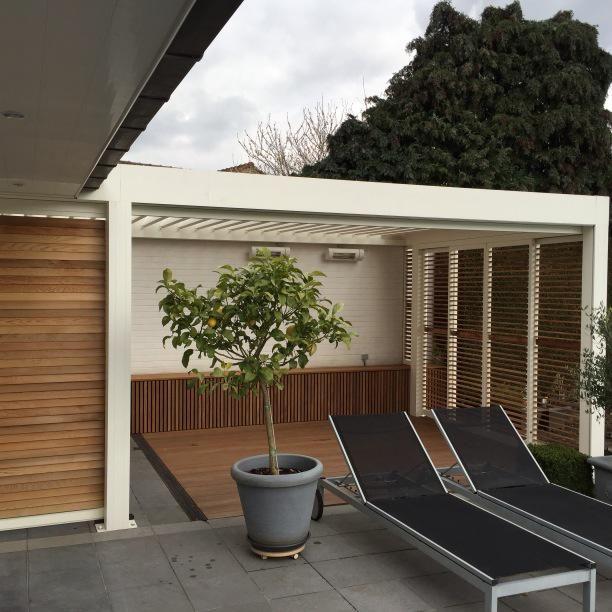 101 best louvered terrace covering camargue images on pinterest. Black Bedroom Furniture Sets. Home Design Ideas