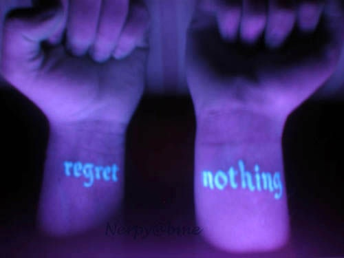 Uv blacklight tattoo