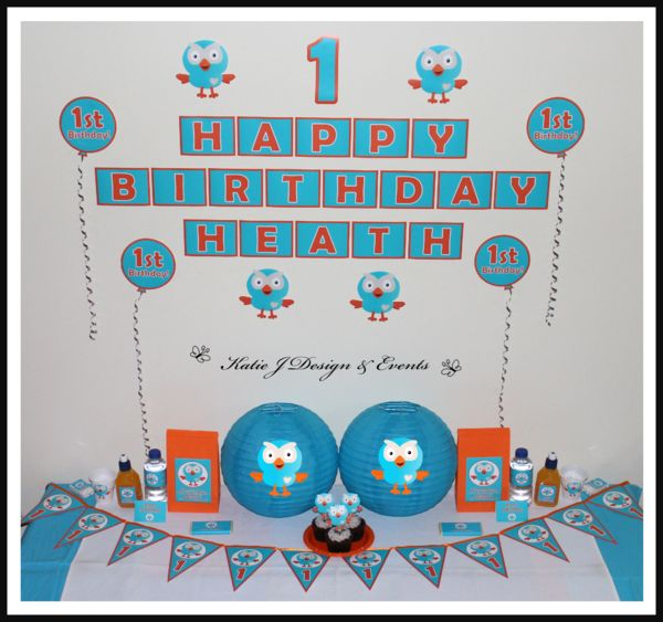 Mega Party Pack #Giggle #And #Hoot #Boy #Birthday #1st #Party #Decorations…