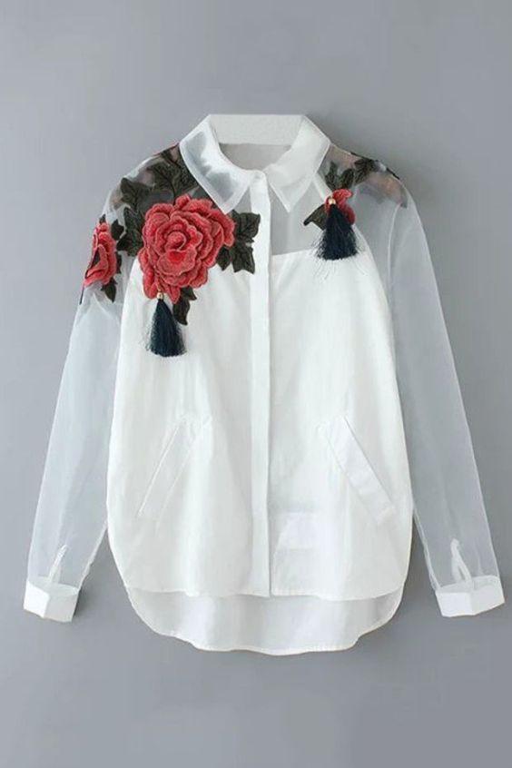 Блузки с вышивкой / Вышивка / ВТОРАЯ УЛИЦА