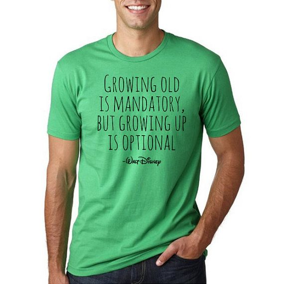 Disney Growing old is mandatory T-Shirt // Plus Size by HimAndGem