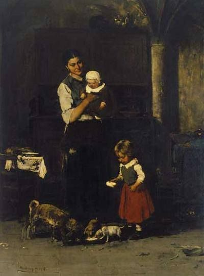 · Munkácsy Mihály (1844-1900) - A két család