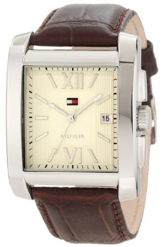 Tommy Hilfiger Men's 1710318 Classic Tank Roman Numeral Enamel Dial Watch Tommy Hilfiger. $74.95. Silver roman numerals. Classic tank styled stainless steel case. Durable mineral crystal protects watch from scratches,. Water-resistant to 30 M (99 feet). Quartz movement